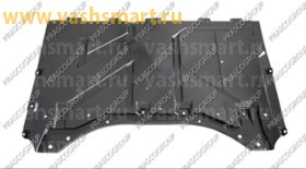 Защита двигателя (пыльник) Smart Fortwo 03/07->03/12   задняя часть